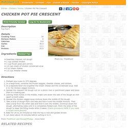 - Chicken Pot Pie Crescent