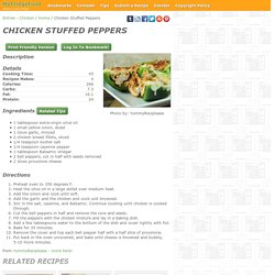 - Chicken Stuffed Peppers