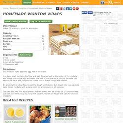 Homemade Wonton Wraps