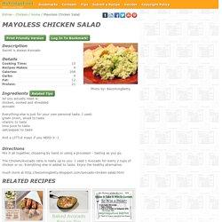 - Mayoless Chicken Salad