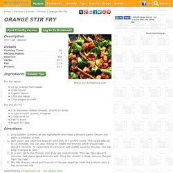 Orange Stir Fry