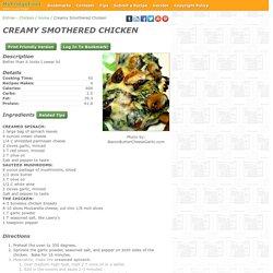 - Creamy Smothered Chicken