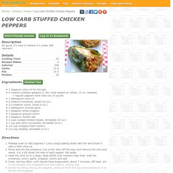 - Low Carb Stuffed Chicken Peppers