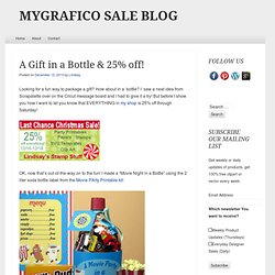 CRAFTS BLOG » Blog Archive » A Gift in a Bottle & 25% off!