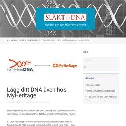 Lägg ditt DNA även hos MyHeritage - Peter Sjölund - Släkt & DNA