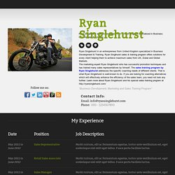 Ryan Singlehurst Business Development