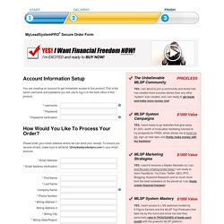 MyLeadSystemPRO™ Secure Order Form