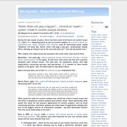 MyLinguistics - Marguerite Leenhardt's Web Log