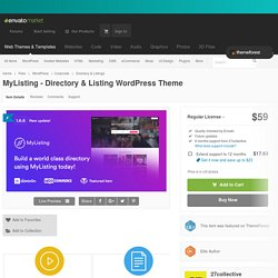 MyListing - Directory & Listing WordPress Theme by 27collective