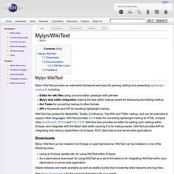 Mylyn/WikiText