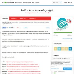 My Major Company - Le Prix Artscience - Organight - Technologie et Innovation