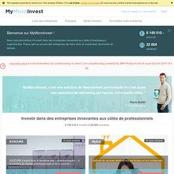 MyMicroInvest – Investir ensemble dans des entreprises innovantes dès 100EUR