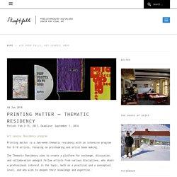 Printing matter – Thematic Residency – Skaftfell – myndlistarmiðstöð Austurlands