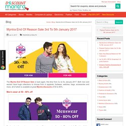 Myntra End Of Reason Sale 3rd To 5th January 2017 - DiscountMantra