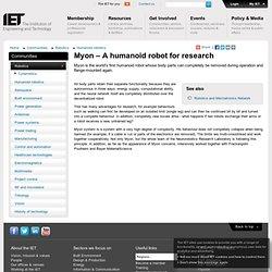 Myon – A humanoid robot for research