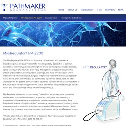 MyoRegulator PM-2200 – PathMaker Neurosystems
