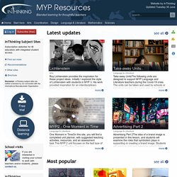 MYP Resources