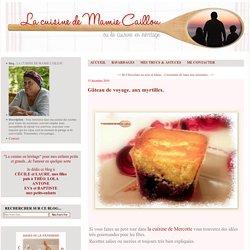 Gâteau de voyage, aux myrtilles