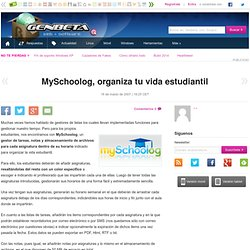 MySchoolog, organiza tu vida estudiantil