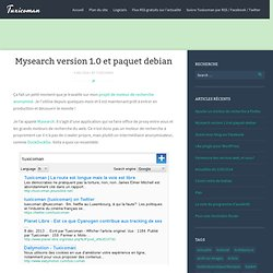 Mysearch version 1.0 et paquet debian