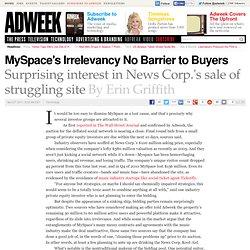 News Corp. Sale of MySpace Seeks Bids Over $100 Million