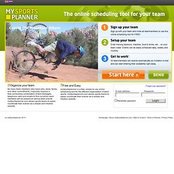 mySportsplanner.com - The online scheduling tool for efficient ...