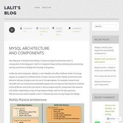 MySQL Architecture and Components