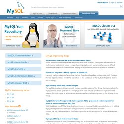 MySQL :: Developer Zone