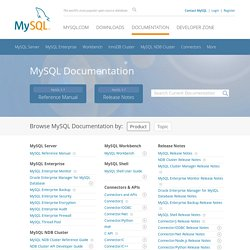 MySQL Documentation: MySQL Reference Manuals