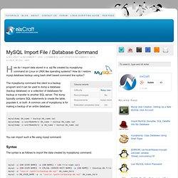 MySQL Import Command [ Database Import ]