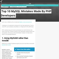 Top 10 MySQL Mistakes Made By PHP Developers