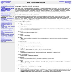 mysql , l'outil en ligne de commande