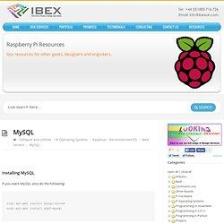 MySQL – Raspberry Pi Projects