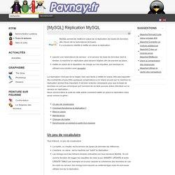 [MySQL] Réplication MySQL