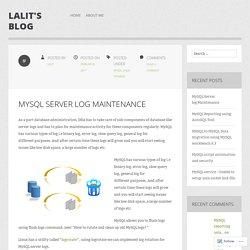 MySQL Server log Maintenance
