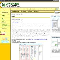 Top 10 MySQL GUI Tools