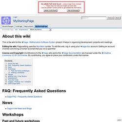 MyStartingPage - Sage Wiki