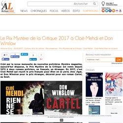 Le Prix Mystère de la Critique 2017 à Cloé Mehdi