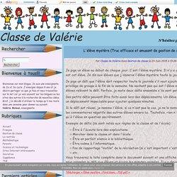 L'élève mystère (Truc efficace et amusant de gestion de classe.) - Classe de Valérie