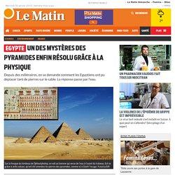 Un des mystères des pyramides enfin résolu grâce à la physique ?