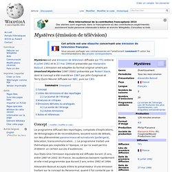 Mystères (émission de télévision) - Wikipédia