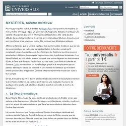 MYSTÈRES, théâtre médiéval