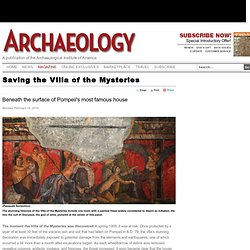 Saving the Villa of the Mysteries