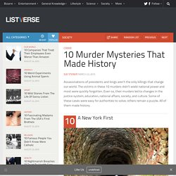 10 Murder Mysteries That Made History