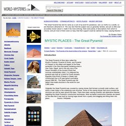 Mystic Places - The Great Pyramid of Giza in Egypt