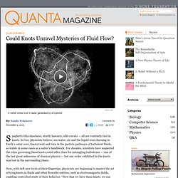 Could Knots Unravel Mysteries of Turbulent Fluid Flow?