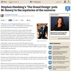 Stephen Hawking's 'The Grand Design' puts M-theory to the mysteries of the universe