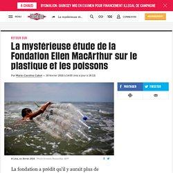 La mystérieuse étude de la Fondation Ellen MacArthur sur le plastique et les poissons