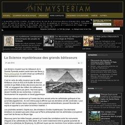 La Science mystérieuse des grands bâtisseurs
