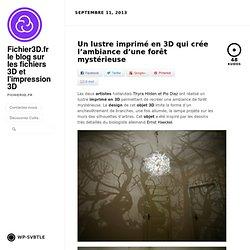 Un lustre imprimé en 3D qui crée l'ambiance d'une forêt mystérieuse by Fichier3D.fr le blog sur les fichiers 3D et l'impression 3D